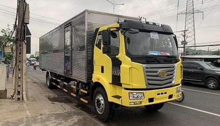 Xe tải Faw tải trọng 8 tấn thùng dài 9.8m